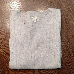 J. Crew Gray Cable Knit Sweater Size Small